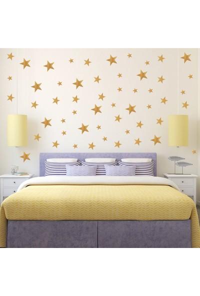 Decolight Büyük Boy Gold Sarı Yıldız Sticker