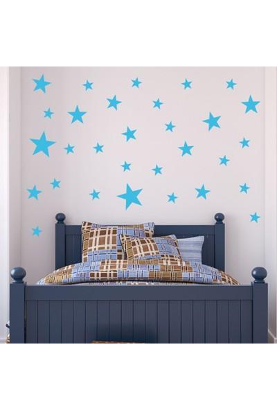 Decolight Büyük Boy Mavi Yıldız Sticker