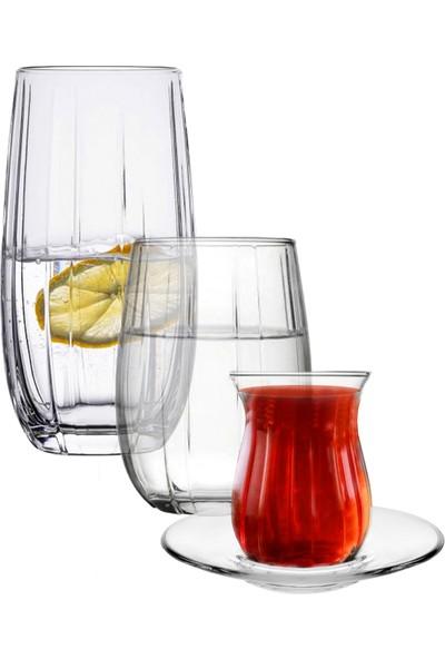 Joy Glass Linka Su Meşrubat Çay Seti - 24 Parça