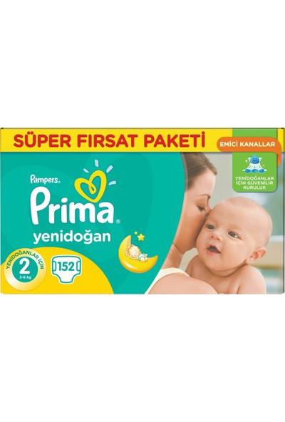 Prima Bebek Bezi 2 Beden Yenidoğan Süper Fırsat Paketi 152 Adet