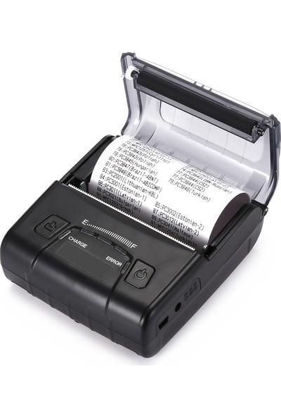 Ptfis Taşınabilir Kablosuz Bluetooth Termal Yazıcı 80mm