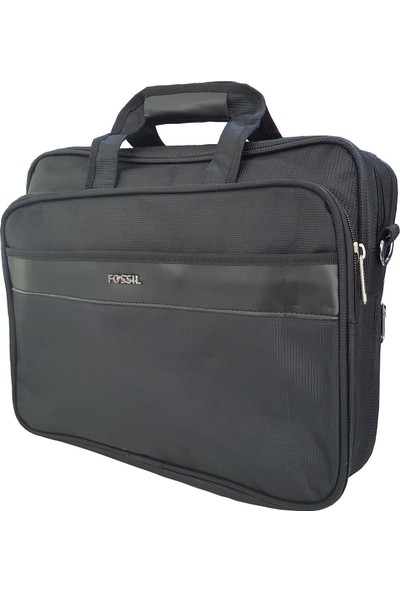 Fossil EVR 7011 Omuz Askılı Laptop Bölmeli Evrak Çantası Siyah