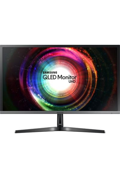 """Samsung LU28H750UQMXUF 27.9"""" 1ms (Display+2xHDMI) 4K Ultra HD 10bit Freesync QLED Monitör"""