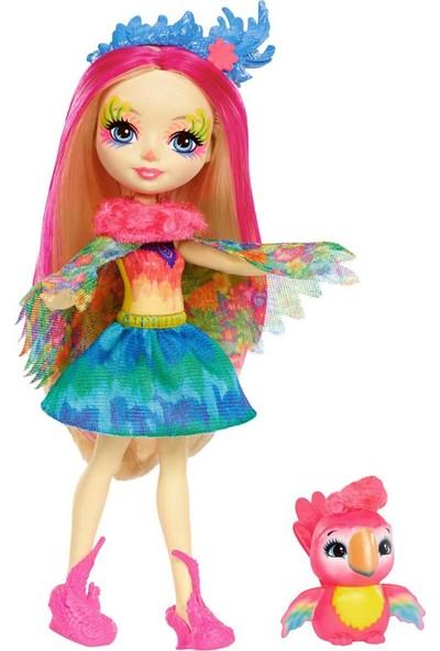 Mattel Enchantimals Bebek Karakter Bebekler Miniş Hayvan Oyuncak Papağan