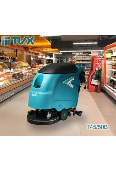 Tvx 45/50 E Elektrikli Zemin Temizleme Makinesi