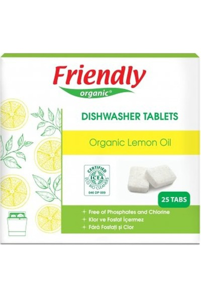 Friendly Organic Bulaşık Makinesi Tableti 25 Adet