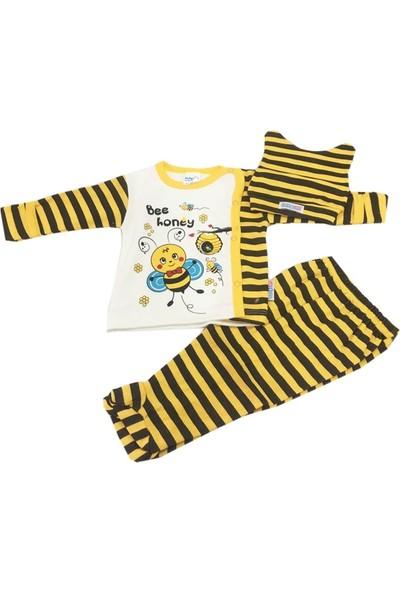 Babycan Arı Desenli Bebek Takımı