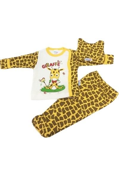 Babycan Zürafa Desenli Bebek Takımı
