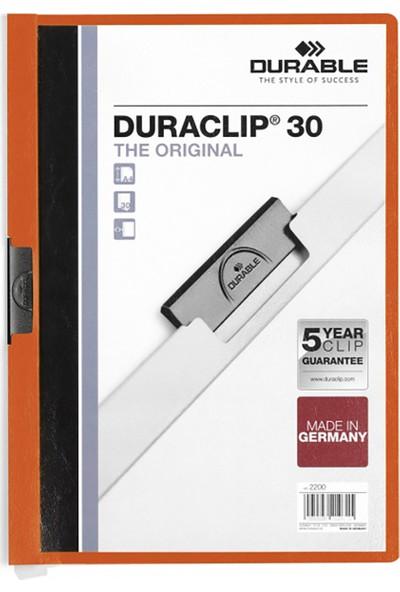 DURABLE DURACLIP Original 30 Sf. Kapasiteli - Turuncu