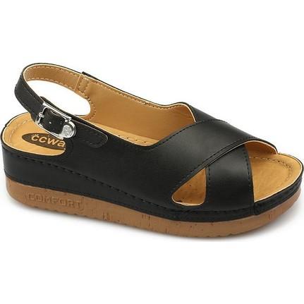 Ccway 3031 Siyah Kadın Sandalet