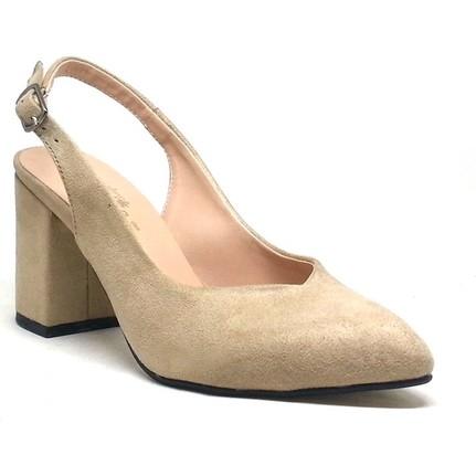 Shop And Shoes 207-801 Pudra Kadın Topuklu Ayakkabı