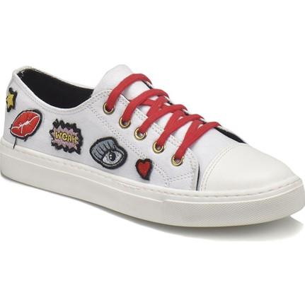 Butigo 18S-SM-YH1710 Beyaz Kadın Sneakers Günlük Ayakkabı
