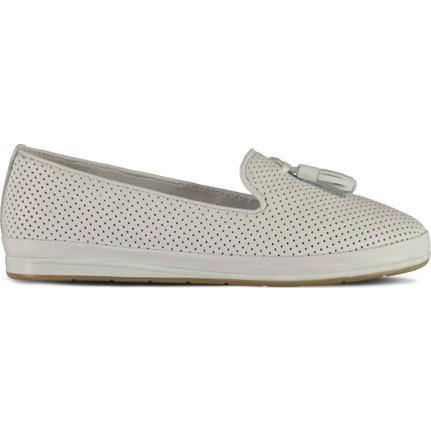Marjin Resal Düz Deri Ayakkabı Beyaz