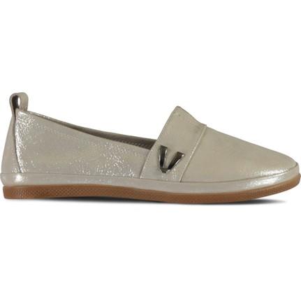 Marjin Mako Pudra Sim Kadın Düz Ayakkabı