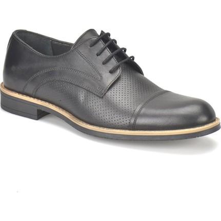 Garamond Hay-1 Siyah Erkek Deri Ayakkabı
