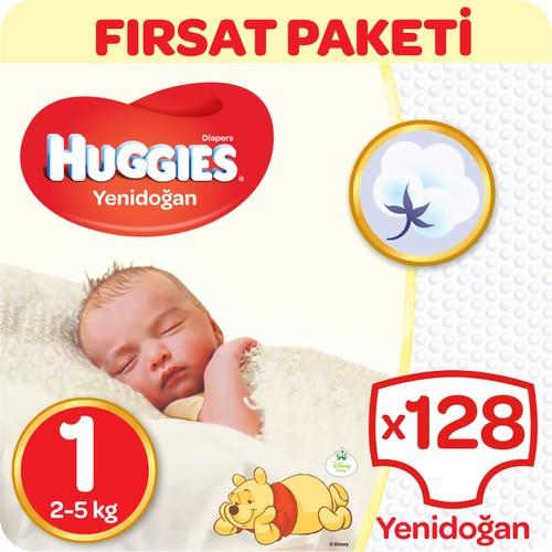 Huggies Unisex Bebek Bezi Jumbo 2'li Paket Yenidoğan 1 Beden 128 Adet