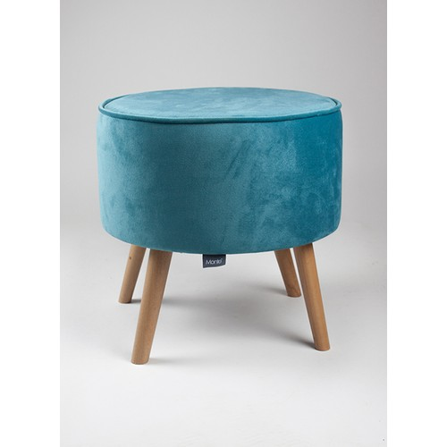 Monte Sehpa Monte Puf - Açık Mavi