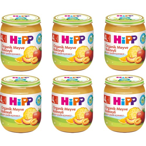 HiPP Organik Meyve Kokteyli 125 gr. 6 Adet