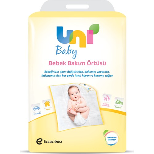 Uni Baby Bebek Bakım Örtüsü 10'lu