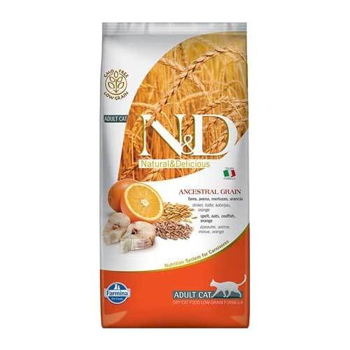 N & D Morina Balığı Ve Portakallı Yetişkin Kedi Maması 1,5 Kg