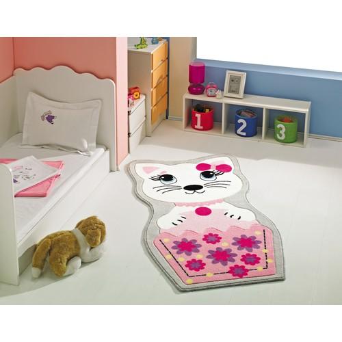 Confetti Kitty 80X150 Cm Pembe Oymalı Çocuk Halısı