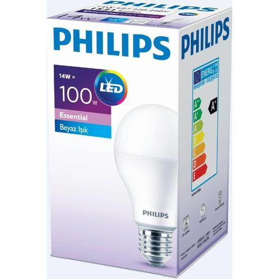 Philips Essential Led Ampul 14-100W Beyaz Renk E27