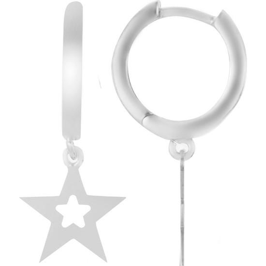 Azuris 925 Ayar Gümüş Yıldız Küpe Rchalk2024