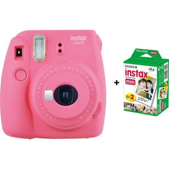 Fujifilm İnstax mini 9 + 20'Li Film Pembe Set