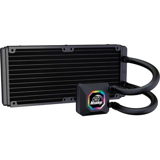 Akasa Venom R20 Intel LGA 775/115X/1366/2011/2066 ve AMD/AM2+/AM3/AM3+/AM4/FM1/FM2 240mm Radyatör RGB Sıvı Soğutma Sistemi (AK-LC4002HS03)