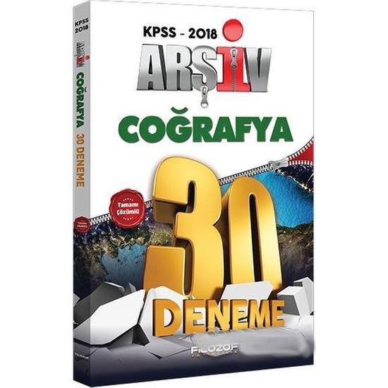 Filozof 2018 Kpss Arşiv Coğrafya Tamamı Çözümlü 30 Deneme