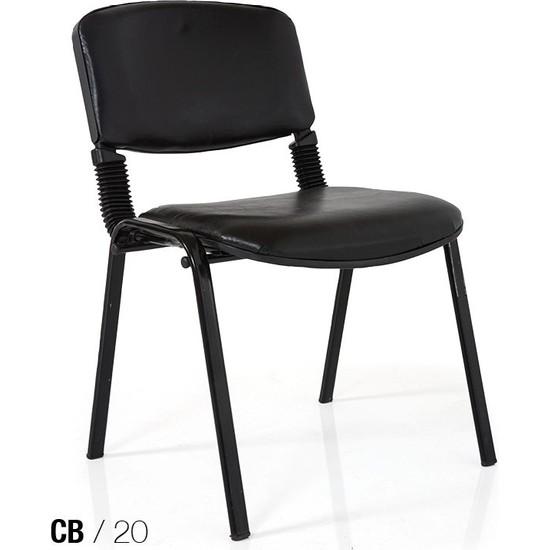 Coşkun Büro/20 Siyah-Deri Form Sandalye