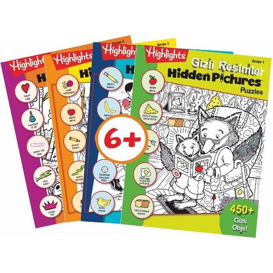 Highlights Hidden Pictures Puzzles (Gizli Resimler) 4'lü Set