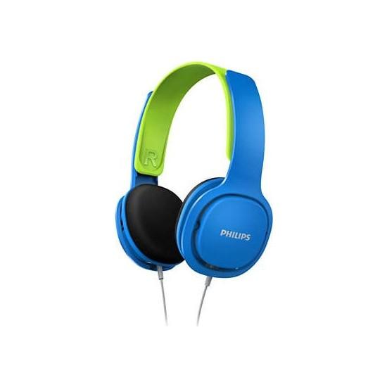 Philips SHK2000BL Kablolu Kulak Üstü Çocuk Kulaklığı 85dB - Mavi Yeşil
