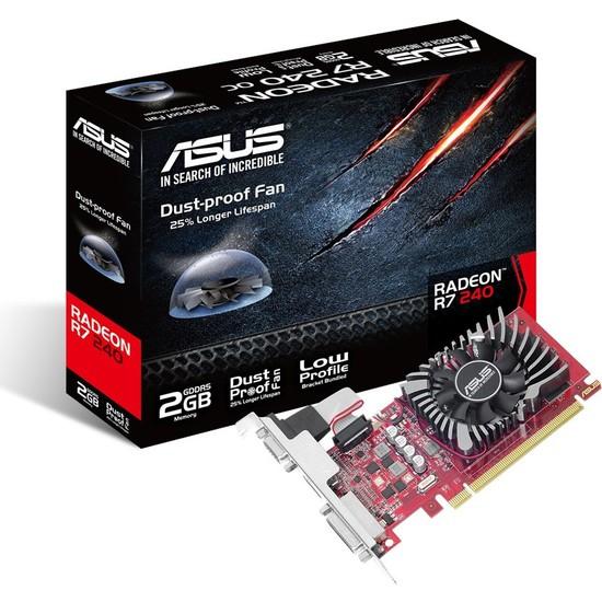 Asus AMD Radeon R7 240 2GB GDDR5(DX11.2) PCI-E 3.0 Ekran Kartı (R7240-2GD5-L)