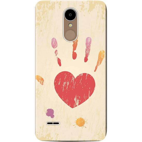 Kılıf Merkezi LG Stylus 3 Kılıf M400 Silikon Baskılı Kalp İzi STK:545
