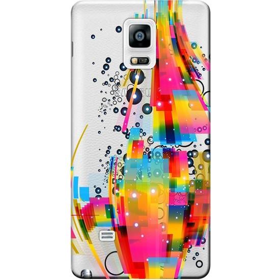 Kılıf Merkezi Samsung Galaxy Note Edge Kılıf SM-N915F Silikon Baskılı Karışık RenkSTK:314