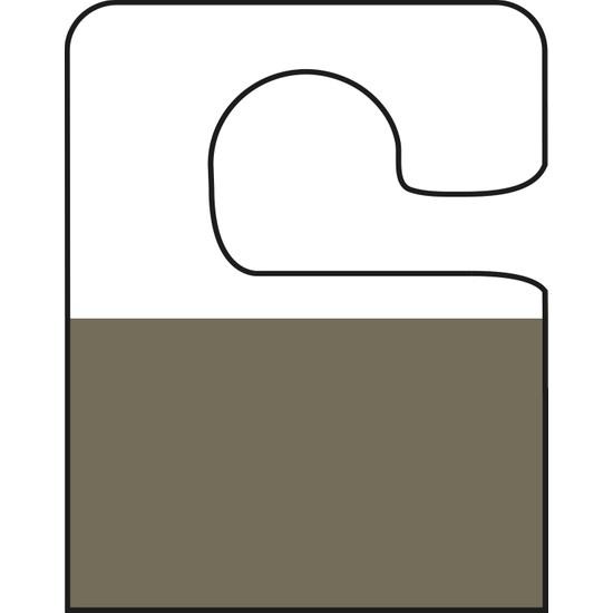 Aso Yapışkanlı Şeffaf Askı Etiketi Kanca Tipi 500 adet HT349