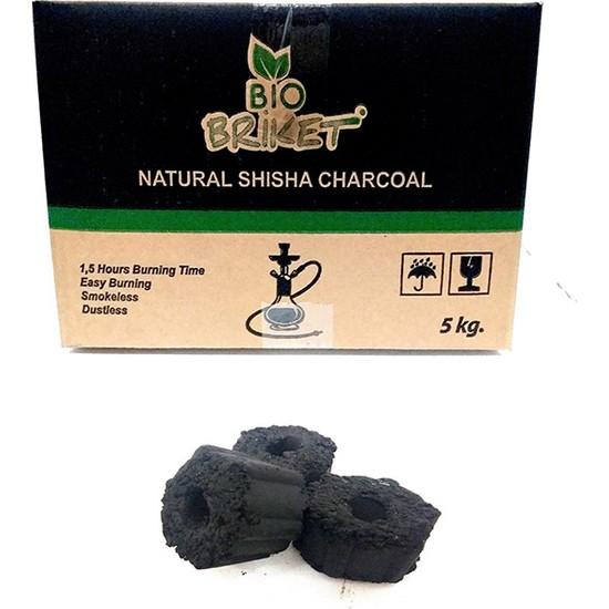 Bio Briket Delikli Nargile Kömürü - 5 KG