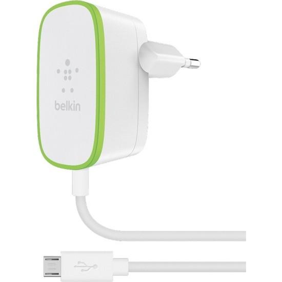 Belkin 12Watt Micro USB Şarj Aleti Sabit Kablolu - Beyaz