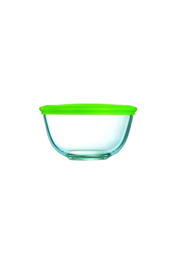 Silicon Pyrex bowl with lid storage and cooking 2lt