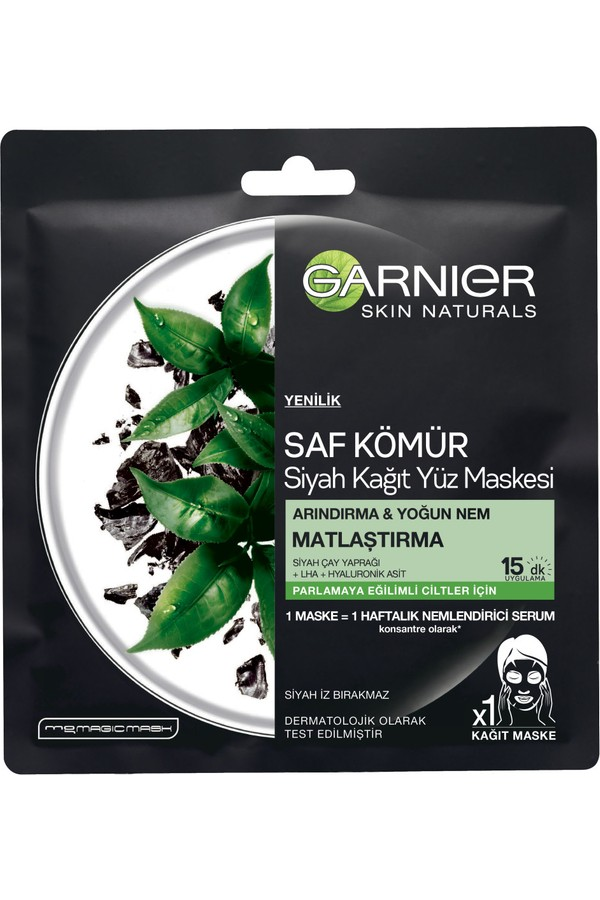 Garnier Facial Mask Of Black Tea Leaves