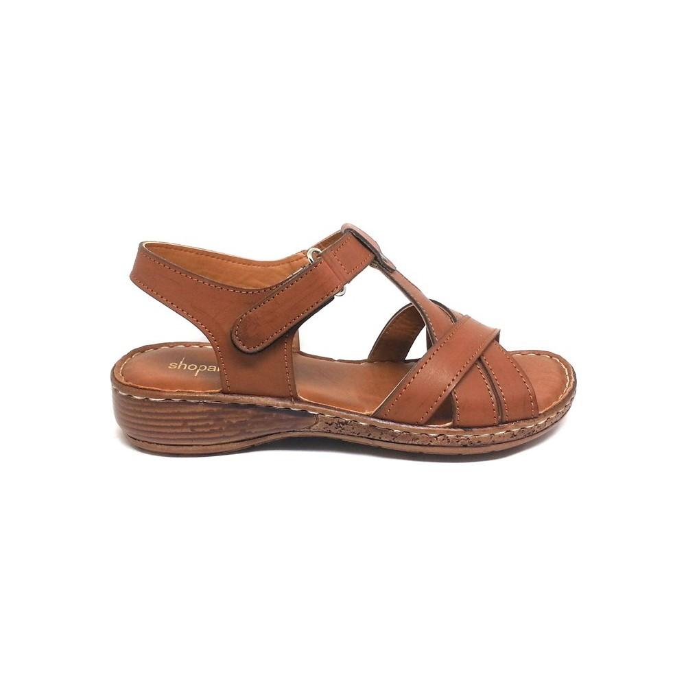 Shop And Shoes 013-353 Taba Kadın Sandalet