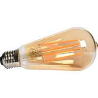 Maxima ST64 Edison LED 4W Uzun Filament 2700K Amber Ampul