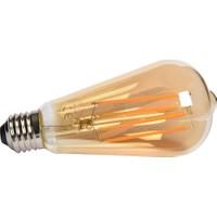 Maxima ST64 Edison LED 6W Uzun Filament 2700K Amber Ampul