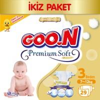 Goon Bebek Bezi Premium Soft 3 Beden Ekonomik Paket 29 Adet