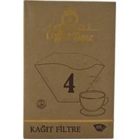 Coffee Time 4 Numara 100'Lü Kahve Filtre Kağıdı