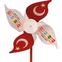 İnci Balon Rüzgar Gülü 23 Nisan'A Özel 50'Li Paket
