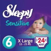 Sleepy Sensitive Bebek Bezi 6 Beden XL Jumbo Paket 24 Adet