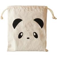 Bugy Bagy Panda Keten Kirli Ve Oyuncak Saklama Torbası Küçük Boy