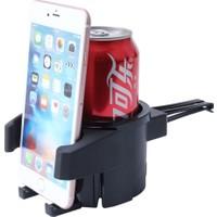 Microcase Fonksiyonel Araç İçi Telefon Ve Bardak Tutucu Car Holder 2in 1